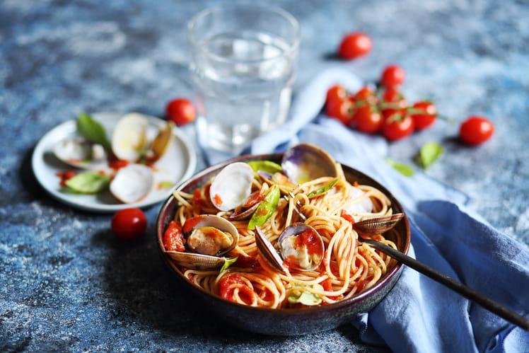 Sauce tomate et palourdes à l'huile olive & ail