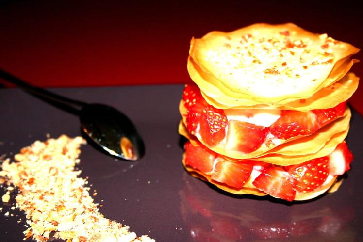 Croustillant aux fraises et chouchous
