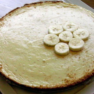cheesecake à la banane et au chocolat blanc