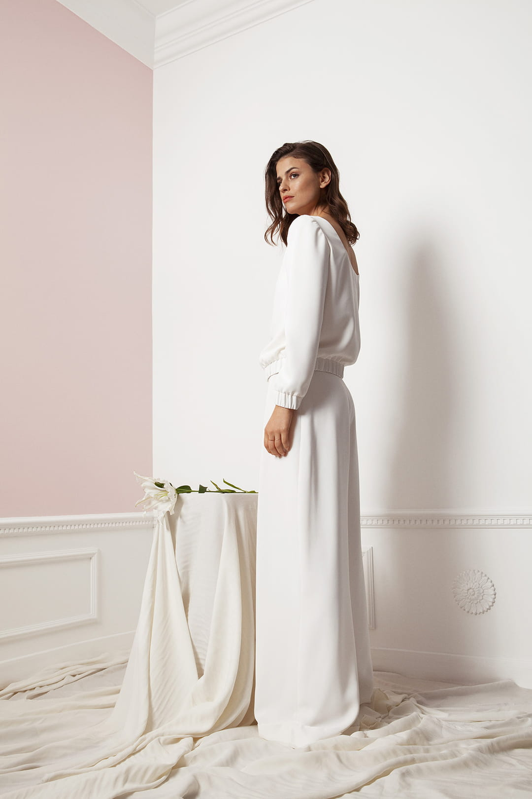 Sweatshirt-Francois-venus-in-white-maison-floret