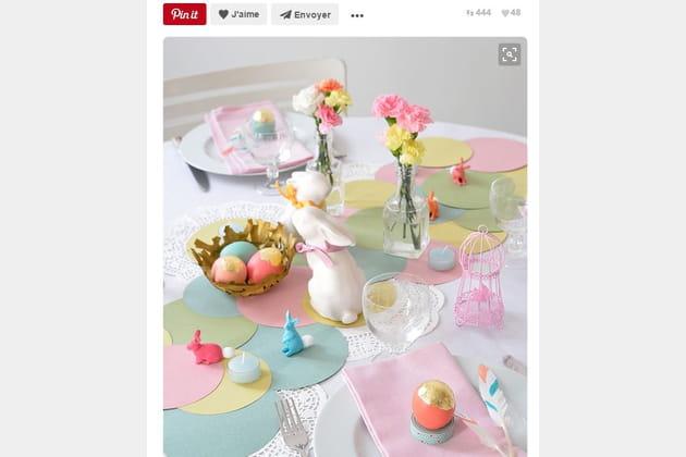 Table de Pâques pastel