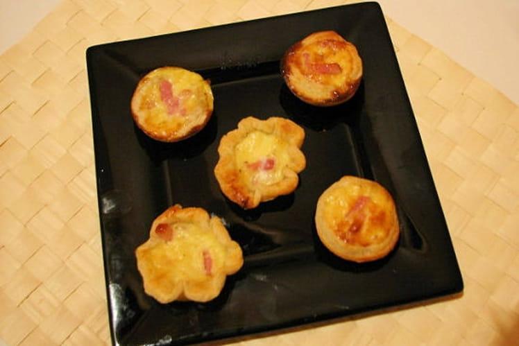 Mini quiches lardons parmesan