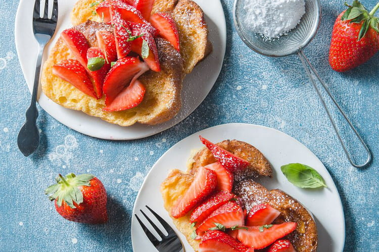 Brioche perdue aux fraises Actifry Genius