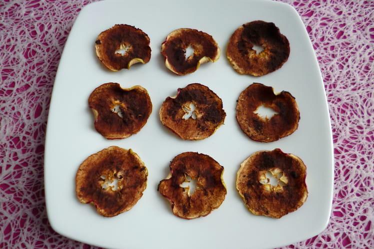 Chips de pommes cacaotées maison