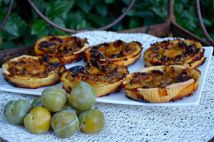 Tartelettes aux prunes reines-claudes