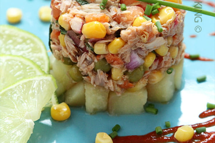 Ceviche de thon, maïs et légumes de Saupiquet®