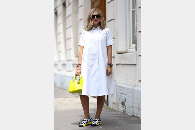 Street looks fashion week haute couture : évasé