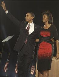 la robe rouge et noire de michelle obama, au centre de polémiques
