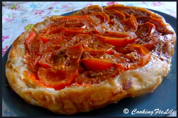 Tatin de tomates confites au vinaigre balsamique