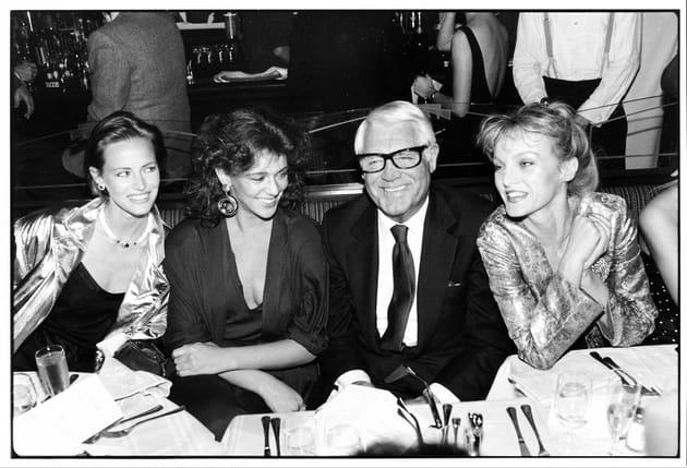 Avec Cary Grant, Gabrielle Lazure et Marushka Detmers en 1984