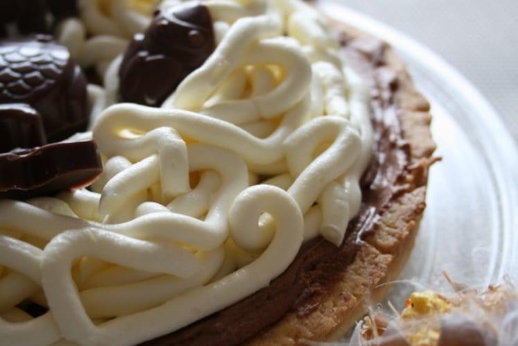 Tarte choco-mascarpone de Pâques, Bio, sans oeufs, gluten etc
