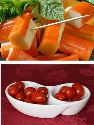surimi ou tomates.