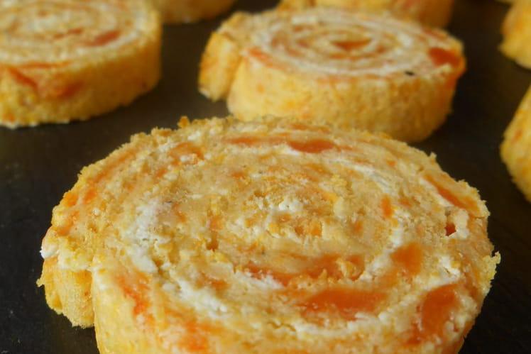 Roulés aux carottes et fromage ail et fines herbes