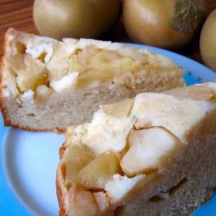 gâteau moelleux pomme-citron