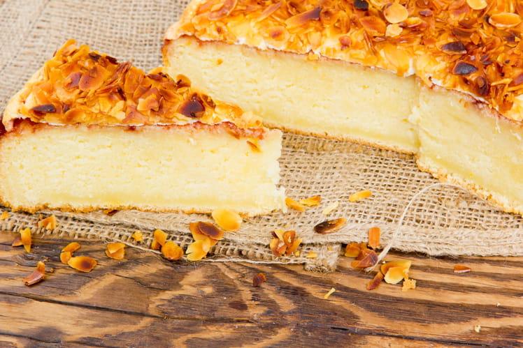 Gâteau au yaourt aux amandes effilées