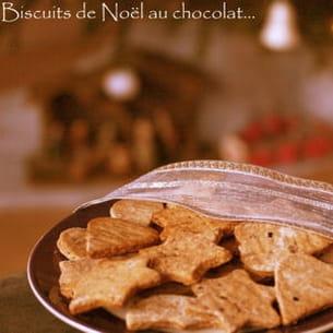biscuits de noël au chocolat