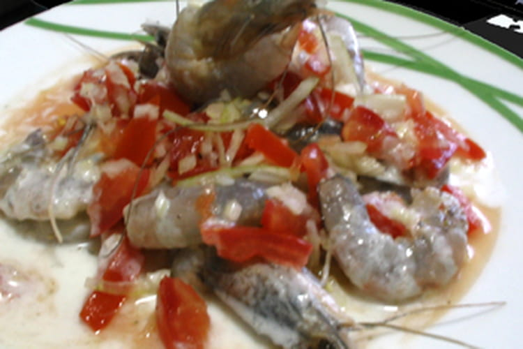 Crevettes à la tahitienne