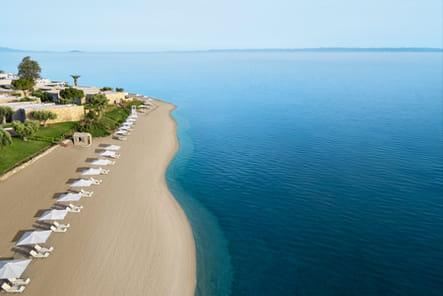 L'incroyable plage privée de l'hôtel Ikos Olivia