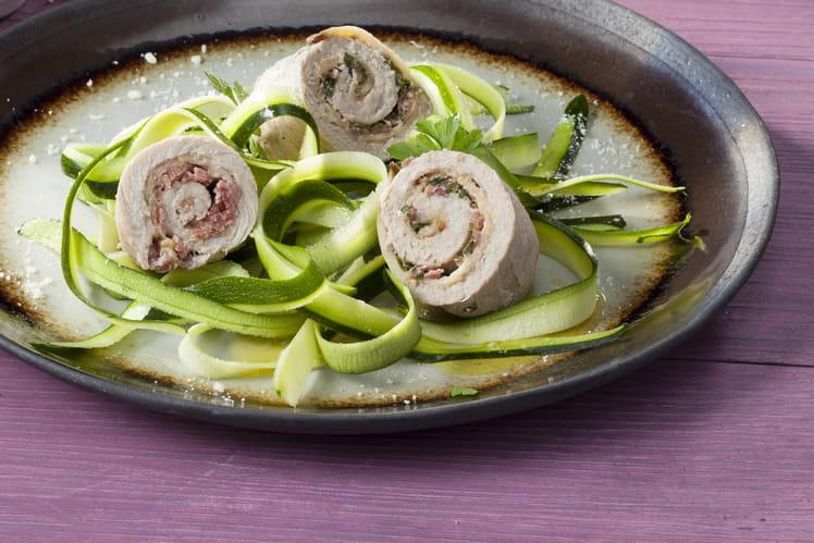 Saltimbocca de veau et tagliatelles de courgettes