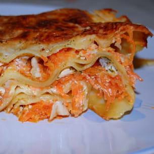 lasagnes aux carottes et chèvre