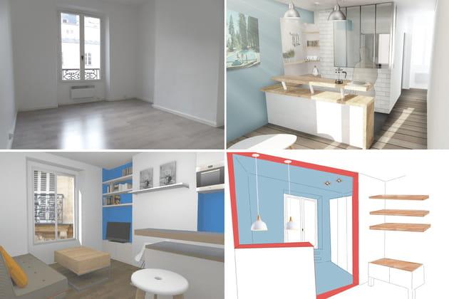 Les projets imaginés pour cet appartement de 23 m²