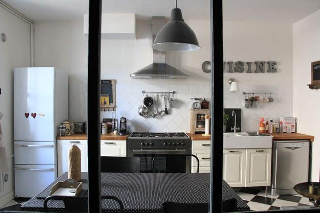 La cuisine for Cuisine carrelage noir et blanc