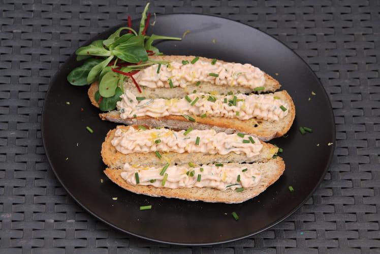 Tartinade au saumon fumé et fromage frais