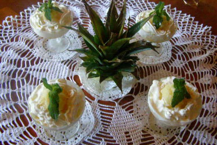 Granité d'ananas frais
