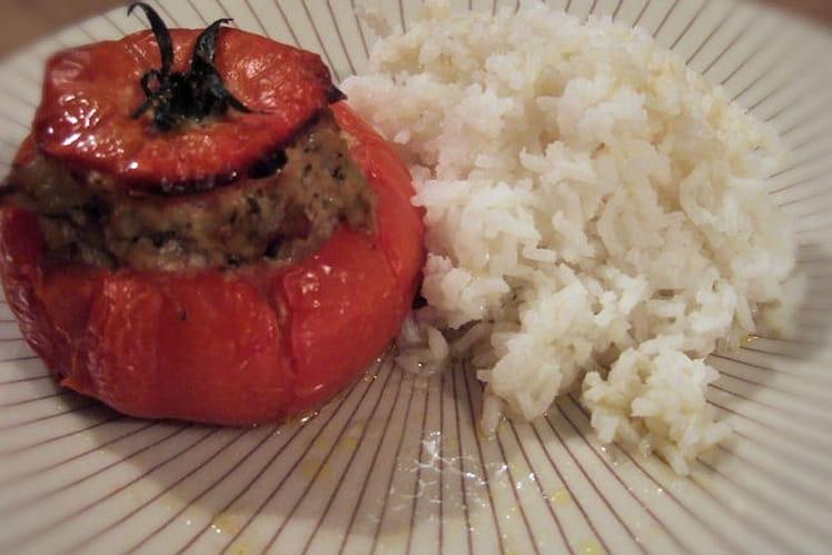 Tomates farcies au poulet sans sel
