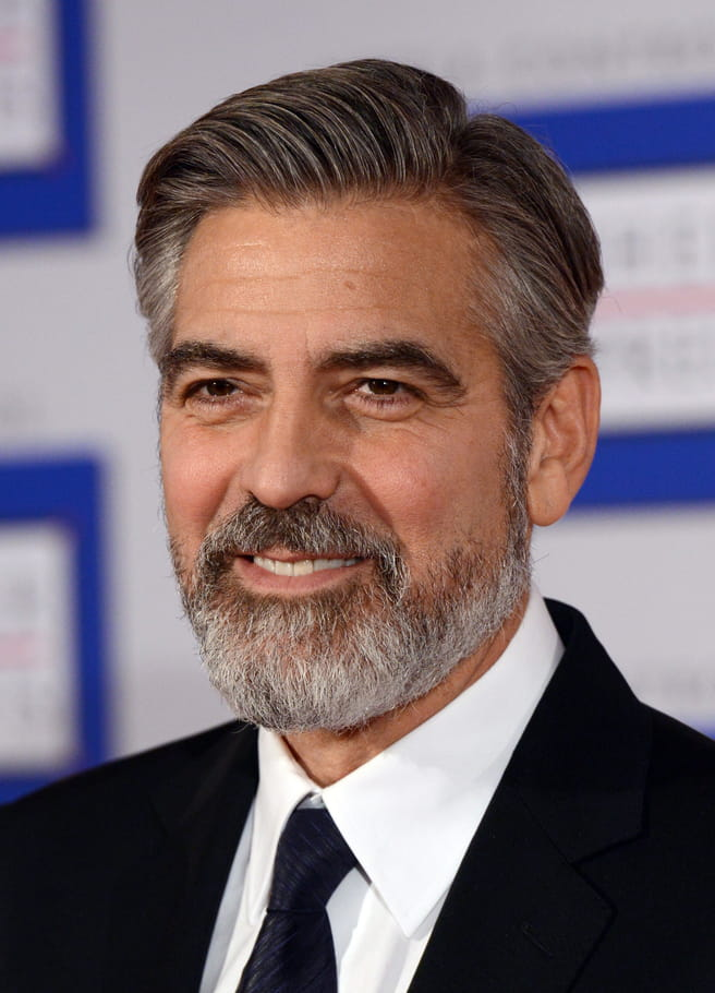 George Clooney avec une barbe