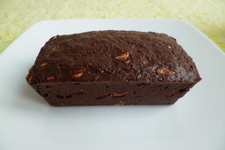 Cake cru au chocolat, aux flocons 5 céréales et au psyllium