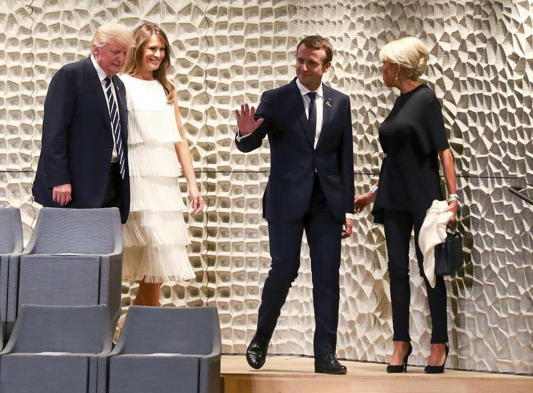 brigitte macron aupr u00e8s de melania trump  au sommet du g20