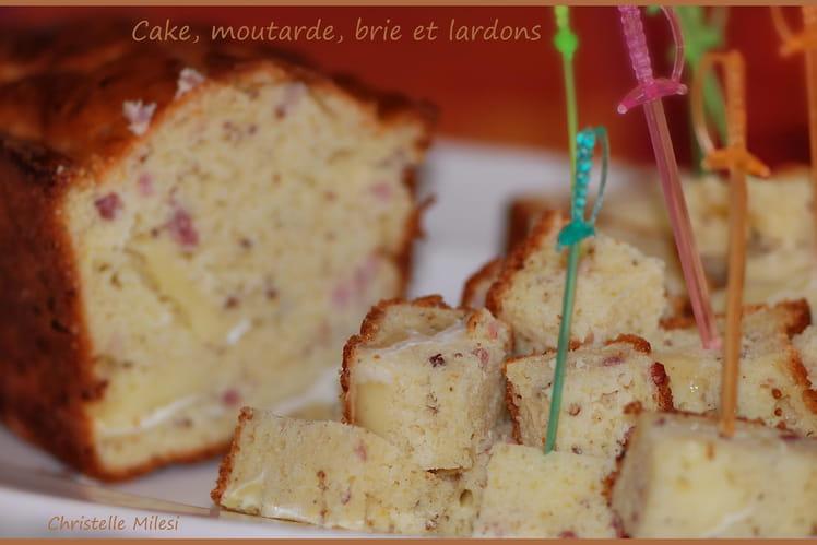 Cake moutarde, brie et lardons