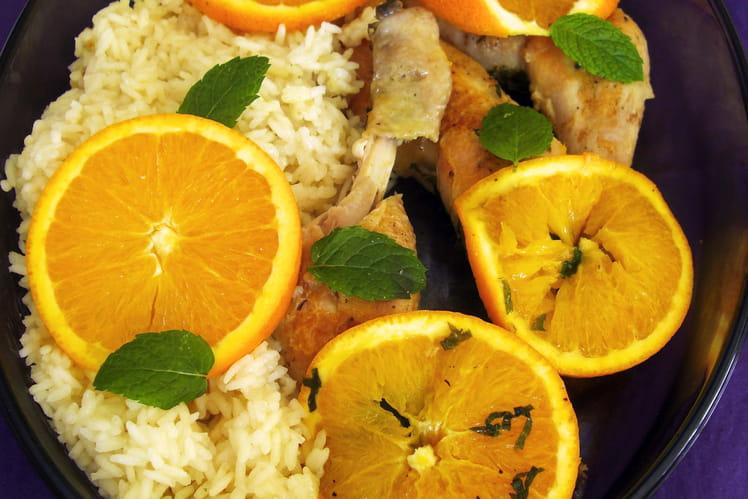Poulet à l'orange et à la menthe