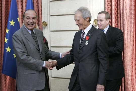 Jacques Chirac et Clint Eastwood