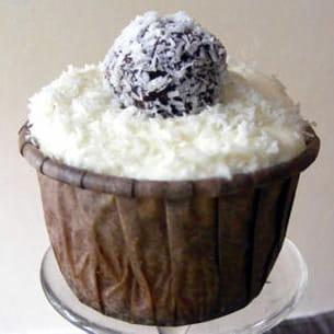 cupcake coco-pralin, truffes choco-coco