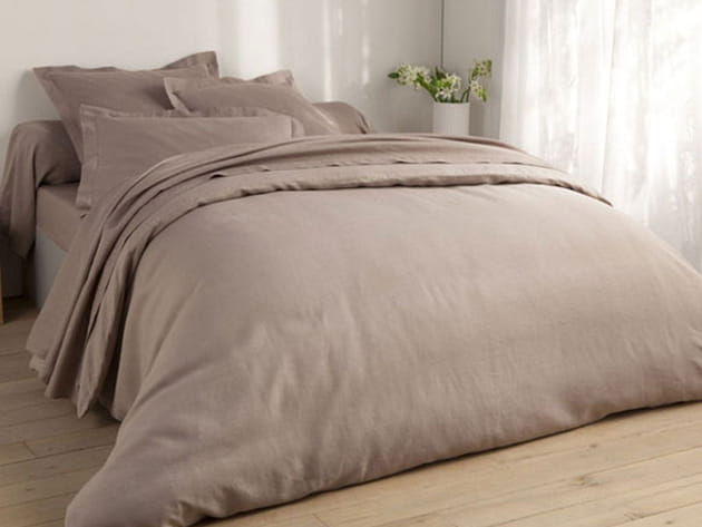 parure de lit en lin lav. Black Bedroom Furniture Sets. Home Design Ideas