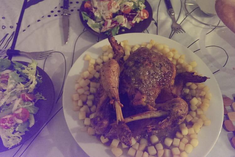 Poulet rôti à la Marocaine et ses pommes de terres sautées