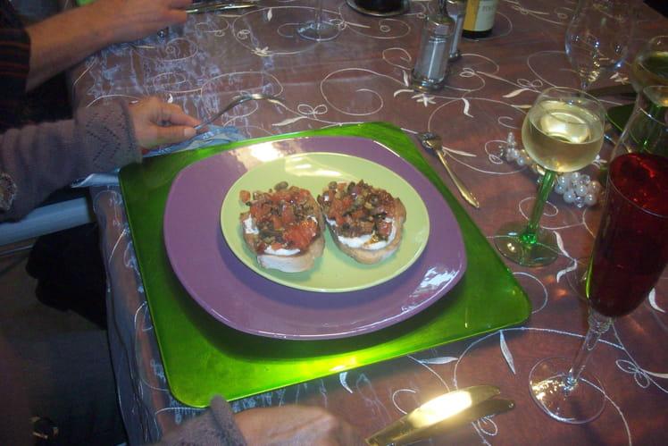 Bruschettas aux olives