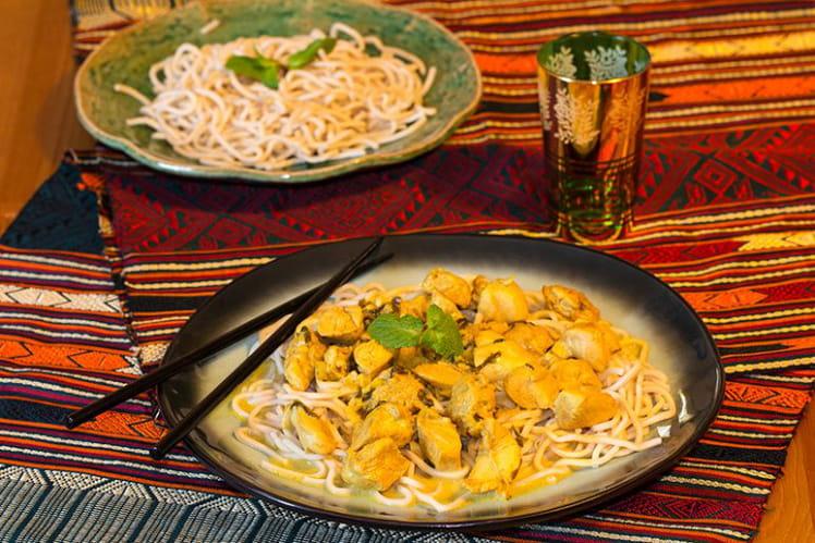 Poulet Thaï au lait de coco et citron vert
