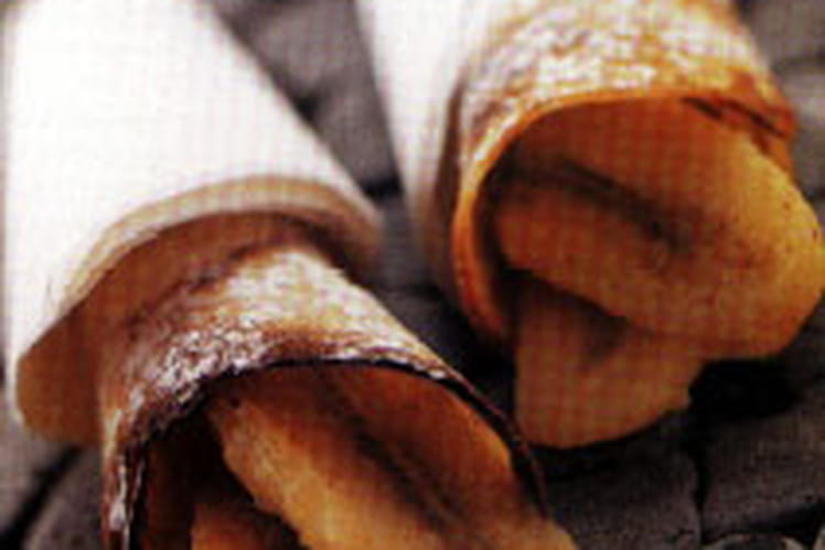 Crêpes séchées à la banane flambée