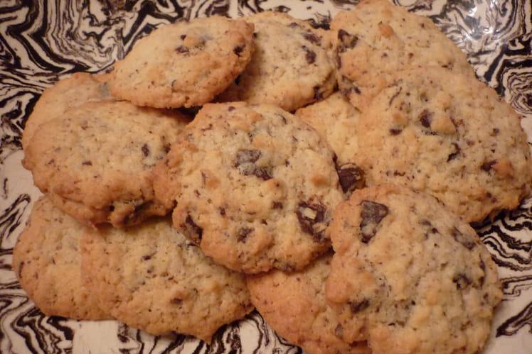 Cookies à la noix de coco et pépites de chocolat