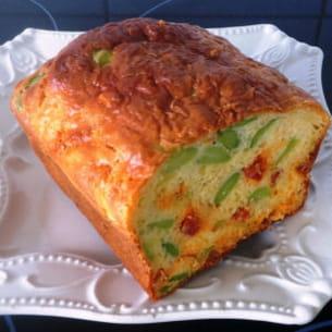 cake aux fèves et chorizo