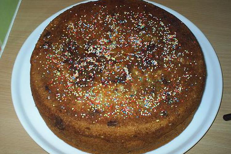 Gâteau aux poires et aux pépites de chocolat