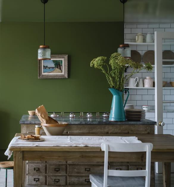 Cuisine rustique & vert kaki