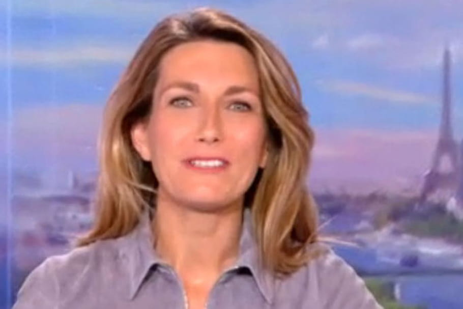 Anne-Claire Coudray, en difficulté pour son premier JT