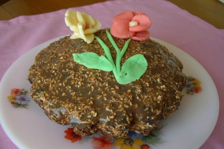 Moelleux au chocolat en ganache au chocolat blanc