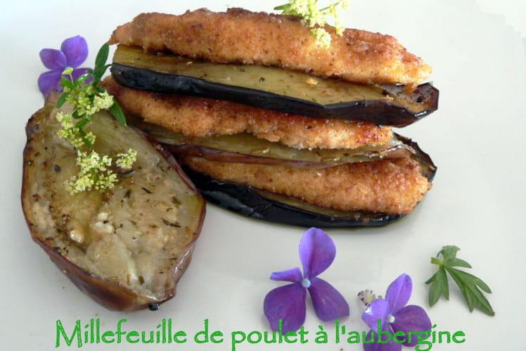 Millefeuille de poulet à l'aubergine