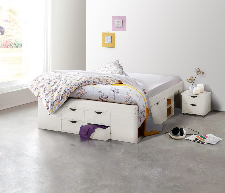 lit inca de camif. Black Bedroom Furniture Sets. Home Design Ideas