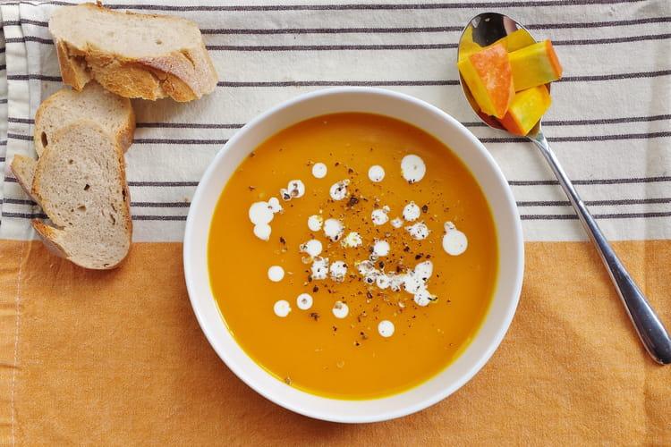 Soupe de potimarron au gingembre